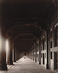 View looking along the cloisters on the south side of the quadrangle of the Jami Masjid, Fatehpur Sikri
